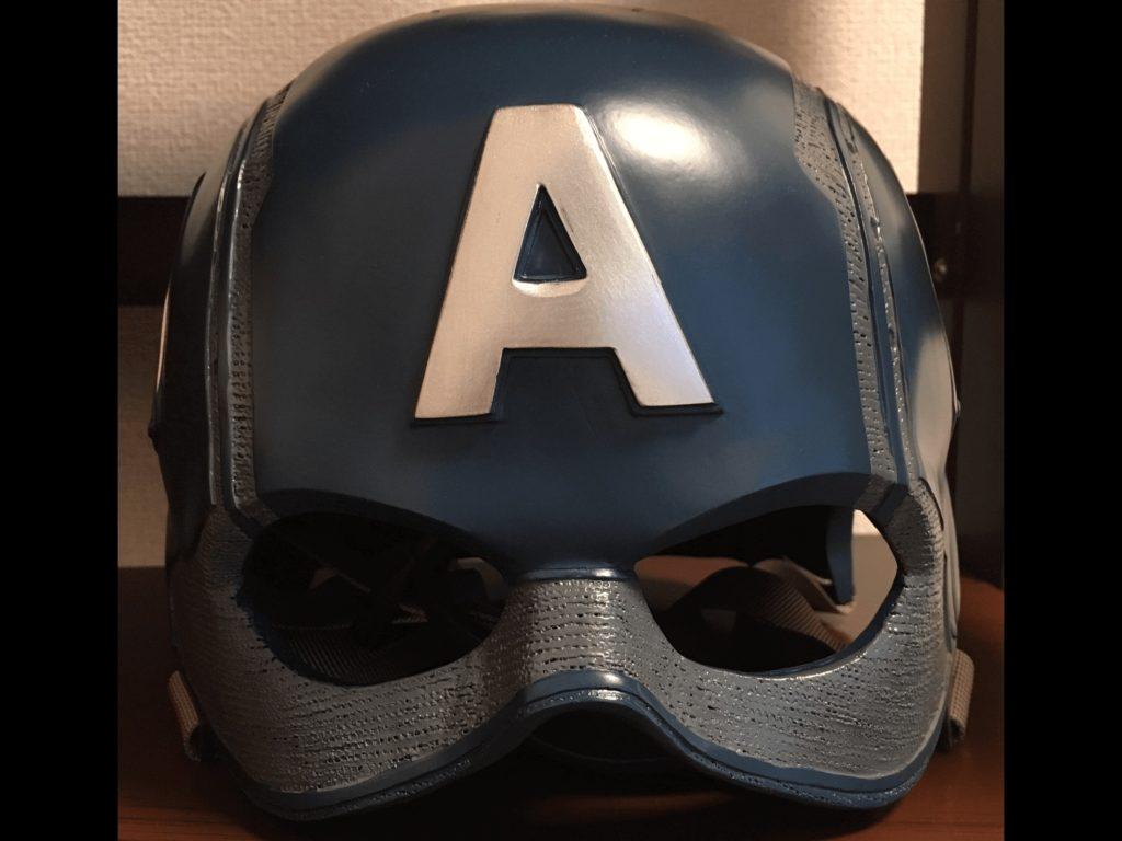 キャプテン・アメリカのヘルメット正面